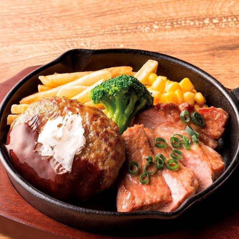 ハンバーグコンボ 山形豚の塩麴焼き<選べる!ライス・パン・サラダ>